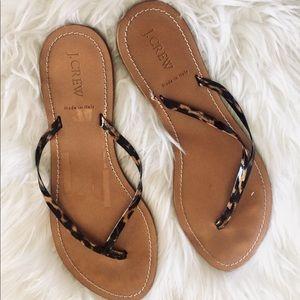 JCrew Leopard Print Sandals
